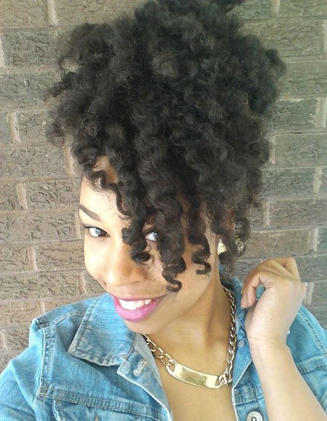 Cheveux afro frisés printemps été 2015