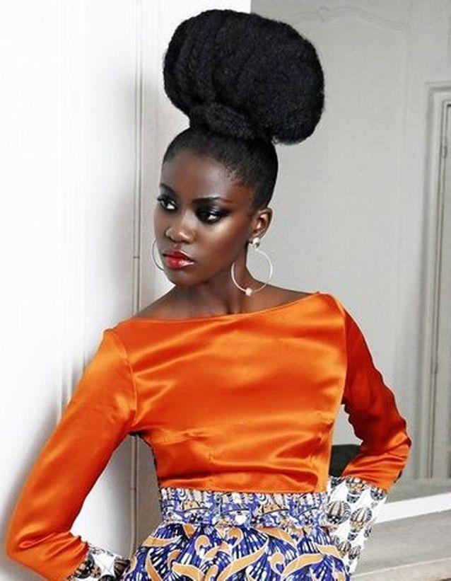 Coiffure cheveux afro tendance printemps été 2015