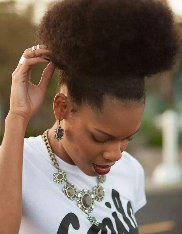 Idée coiffure afro naturel hiver 2015