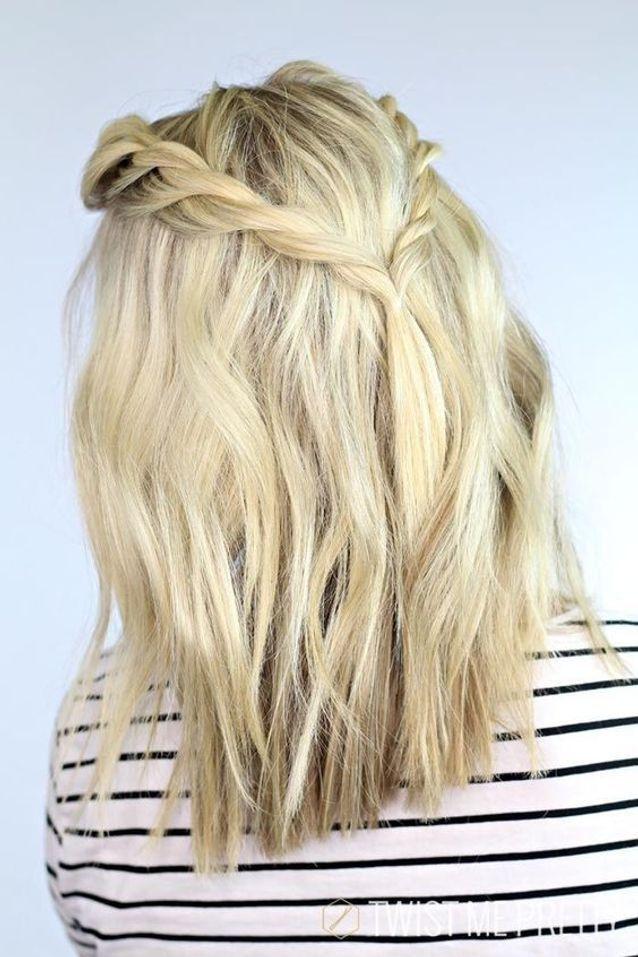 coiffure cheveux mi longs blond platine automne-hiver 2016