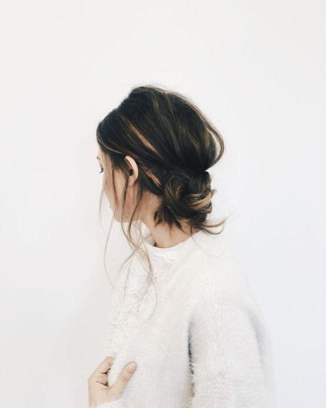 Coiffure cheveux mi longs brun automne-hiver 2016
