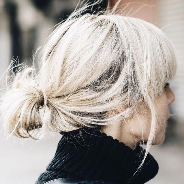 Coiffure cheveux mi longs chignon bas automne-hiver  2016