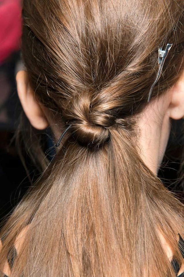 Coiffure Cheveux Mi Longs Queue De Cheval Originale Automne