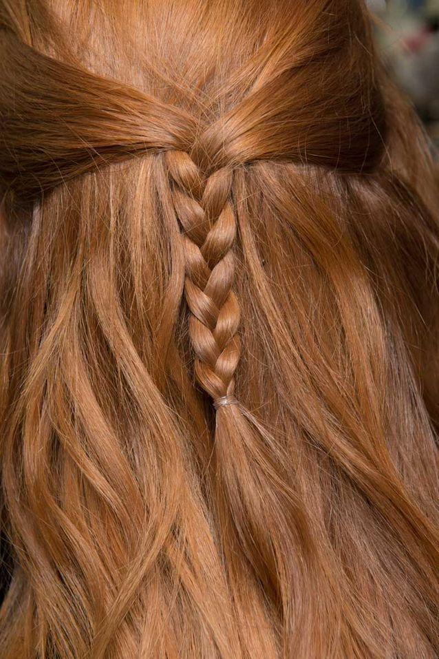 Coiffure cheveux mi longs roux automne hiver 2018