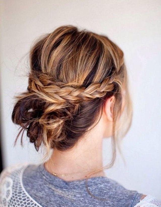 Coiffure sur cheveux mi-longs facile à faire automne-hiver 2016