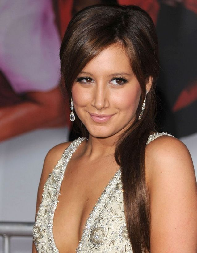 Après : Ashley Tisdale brune