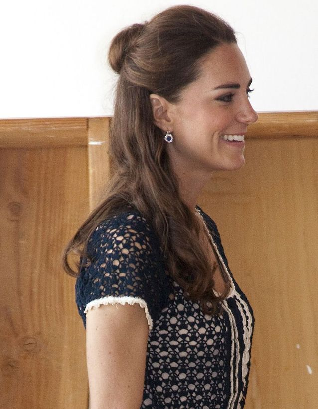Le half bun de Kate Middleton