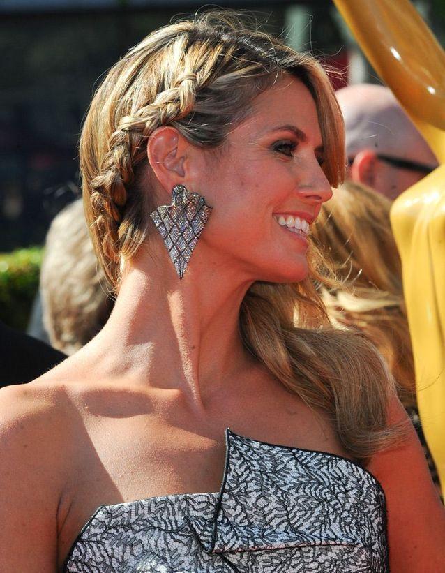 La coiffure avec tresse et cheveux longs de Heidi Klum