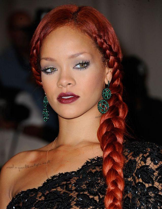 La tresse rousse de Rihanna