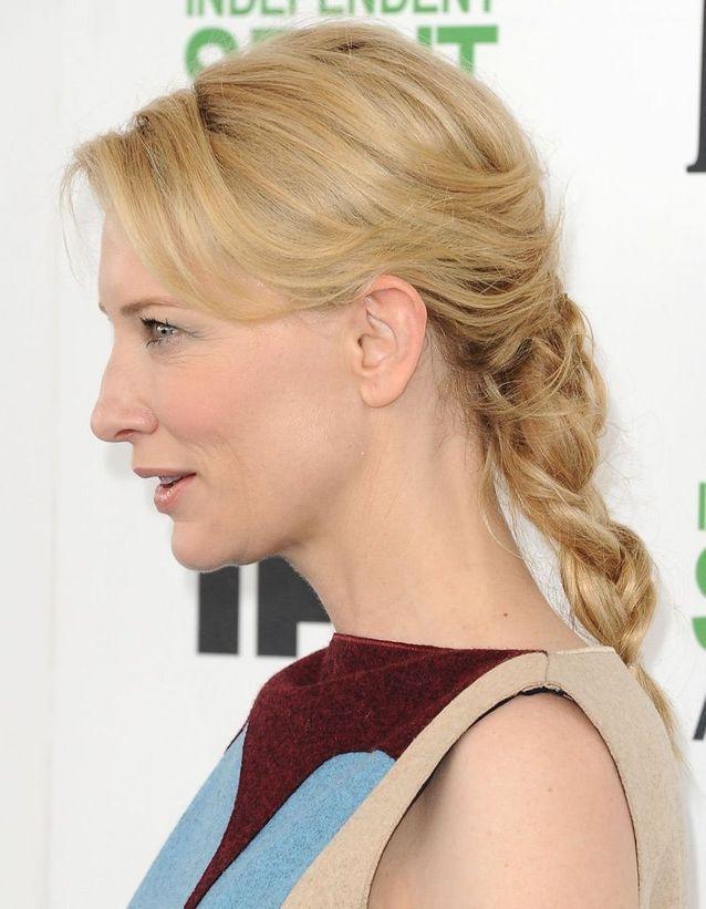 La tresse sur cheveux mi-longs de Cate Blanchett