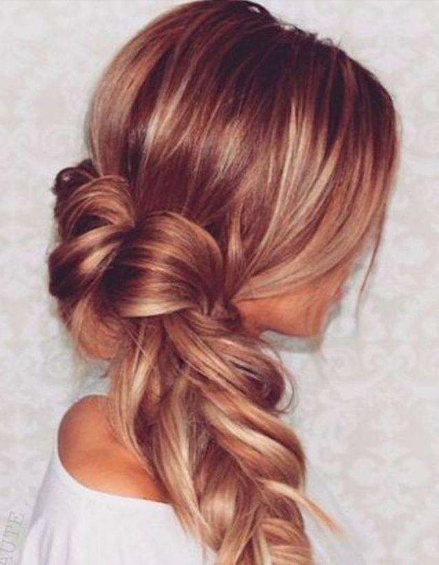 Balayage cuivré sur cheveux blonds foncés , Balayage cuivré