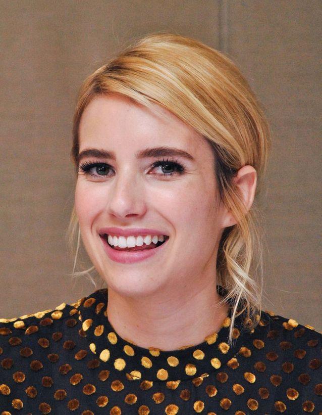 Buttery blonde : Emma Roberts
