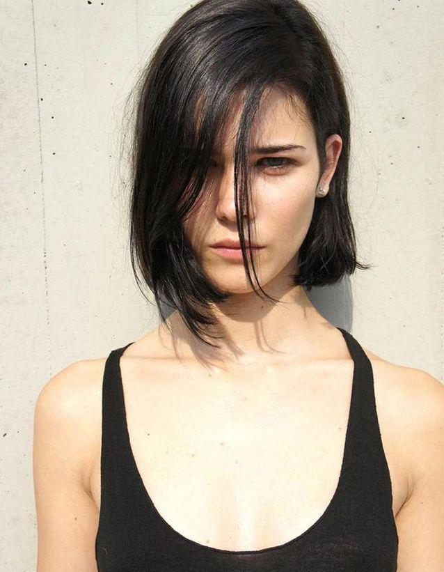 Cheveux brun cendré