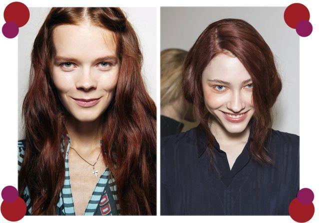 La couleur acajou pour des cheveux flamboyants