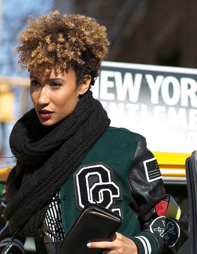 Couleur caramel cheveux afro