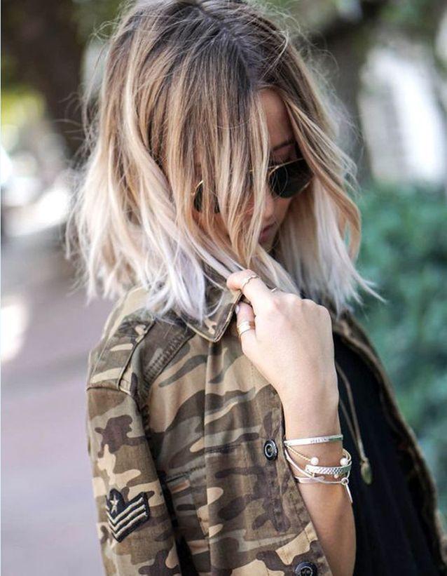 Ombré hair blanc