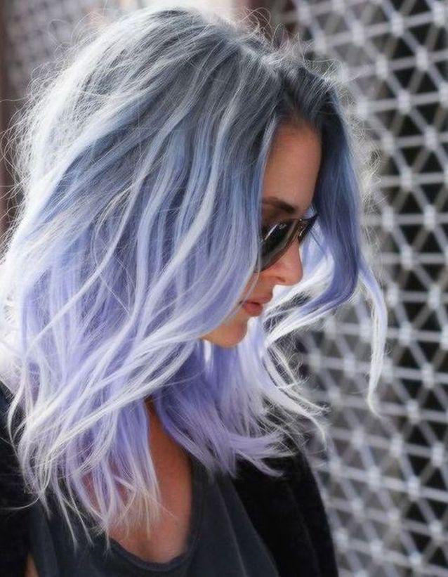 Ombré hair bleu