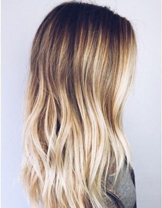 Ombré hair gold