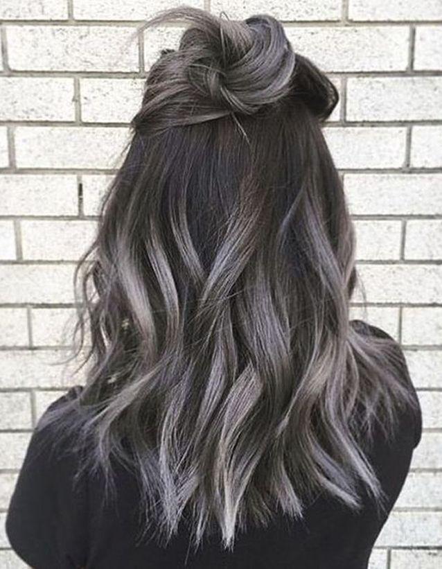 Ombré hair gris , Ombré hair  les plus beaux dégradés de