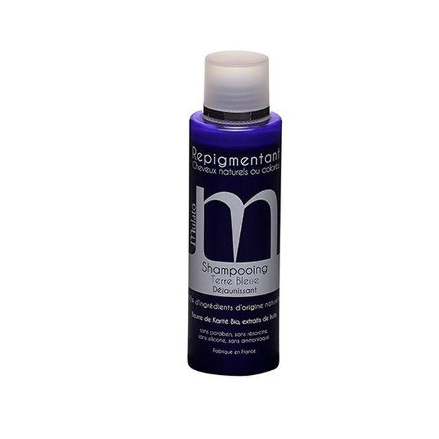 Shampoing repigmentant terre bleue, Mulato, 16,50€