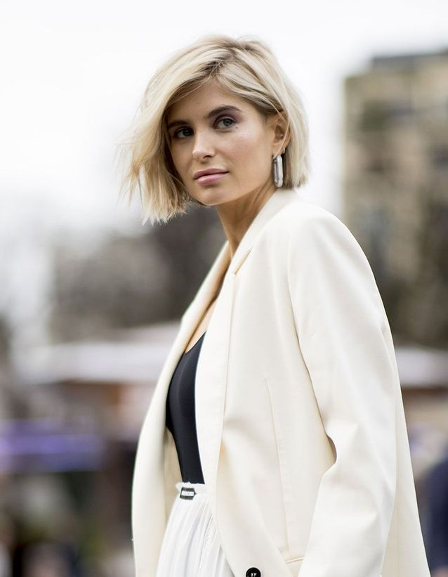 Carré court blond automne-hiver 2019