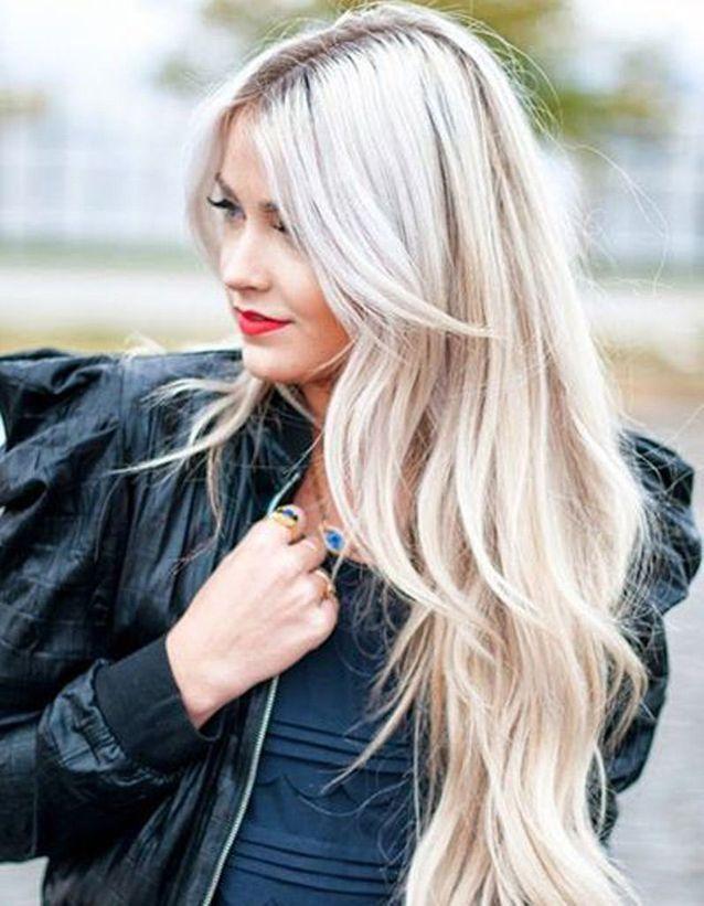 Cheveux longs blonds , Coiffure cheveux longs  des coupes