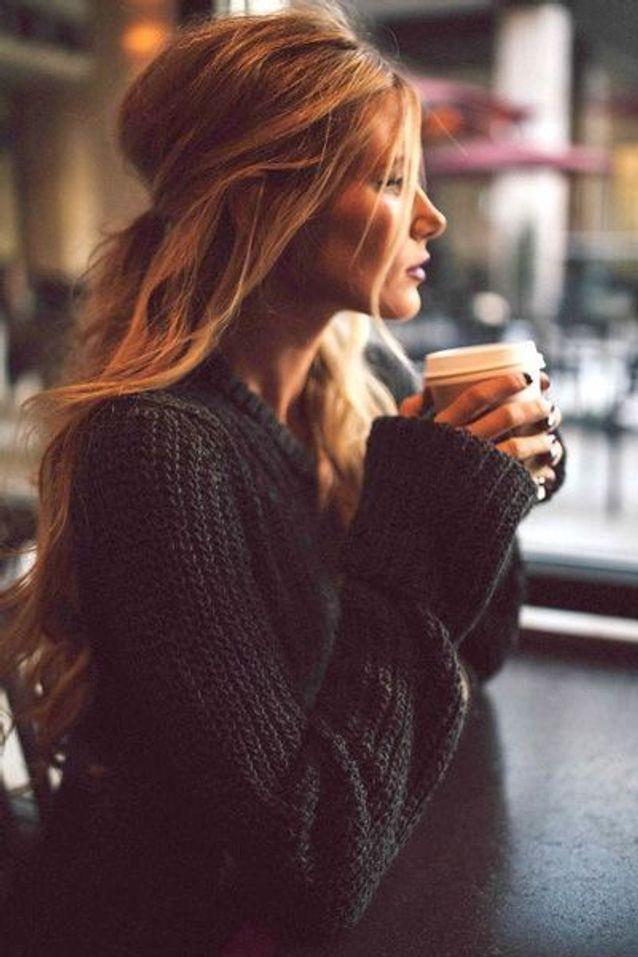Coiffure cheveux longs blonds