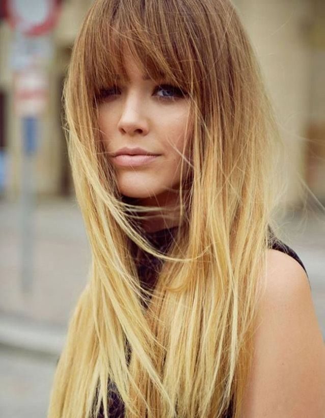 Coiffure cheveux longs tie and dye automne-hiver 2018