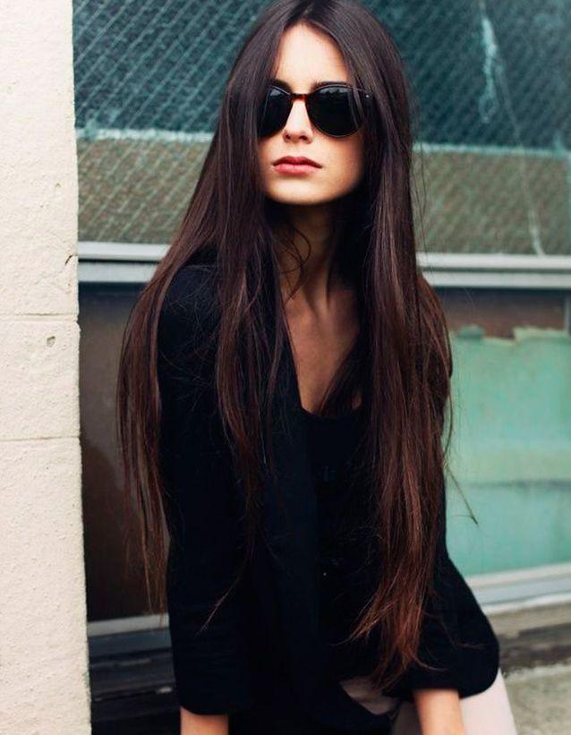 Coupe cheveux longs raides automne-hiver 2018
