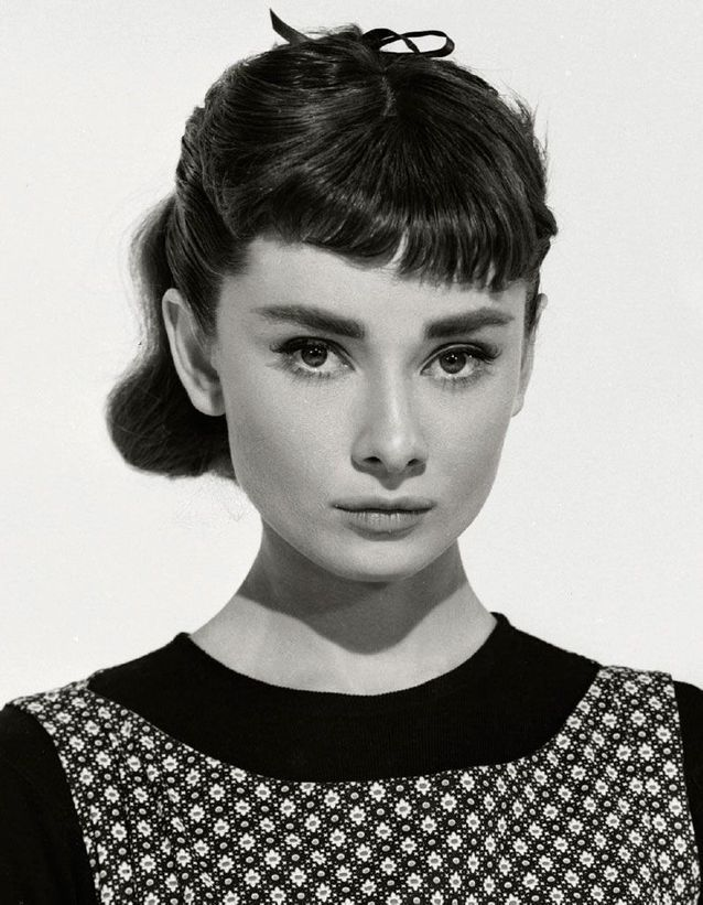 La queue-de-cheval d'Audrey Hepburn dans le rôle de « Sabrina », en 1954