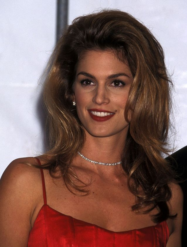 Cindy Crawford et son brushing en 1995