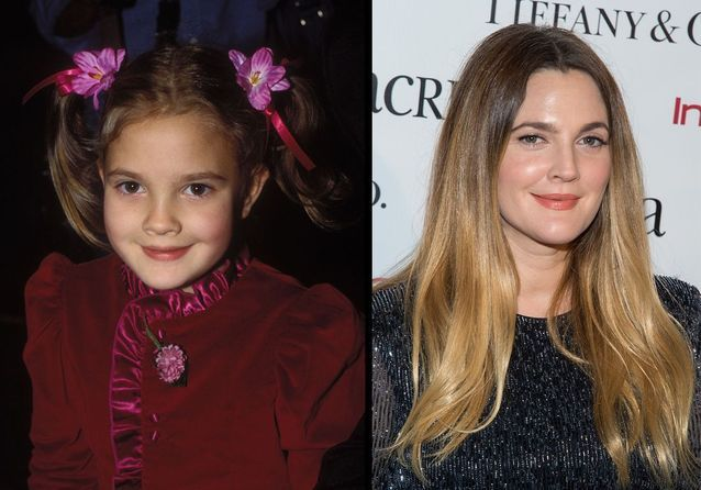 """Drew Barrymore son évolution coiffure d'""""E.T."""" à aujourd'hui"""