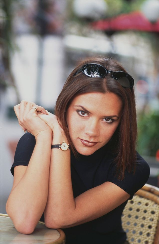 Victoria Beckham et son carré en 1996