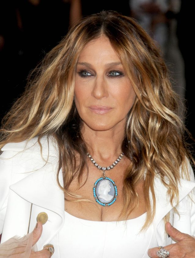 Sarah Jessica Parker and her wavy hair in 2016