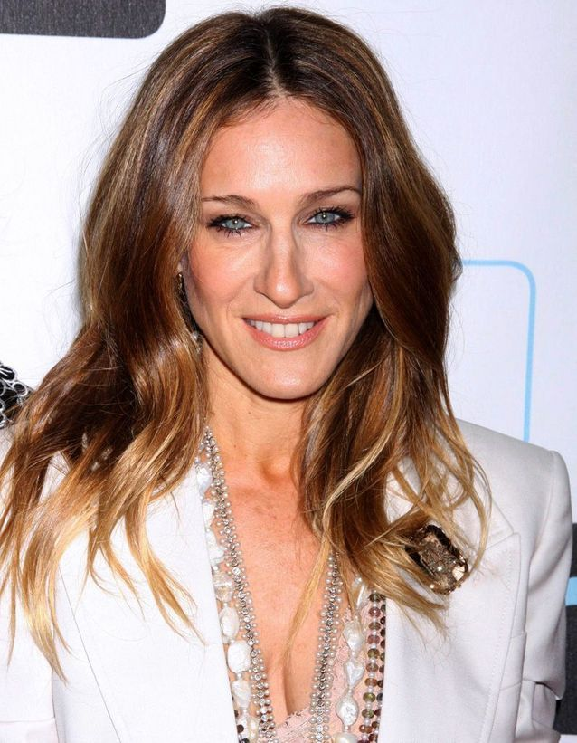Sarah Jessica Parker with a chestnut sweep in March 2010