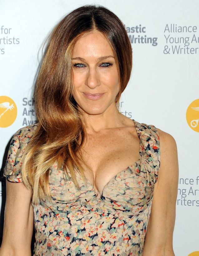 Sarah Jessica Parker long hair and shaded in May 2013