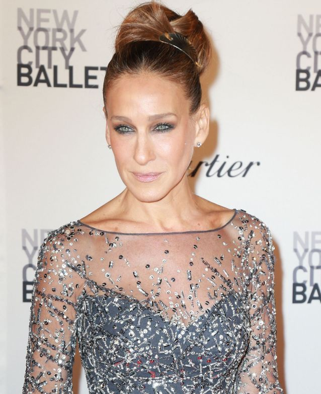 Sarah Jessica Parker and her high bun in 2015