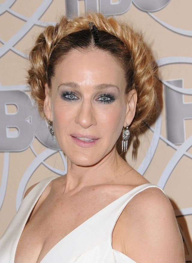 Sarah Jessica Parker and her twisted bun in 2017