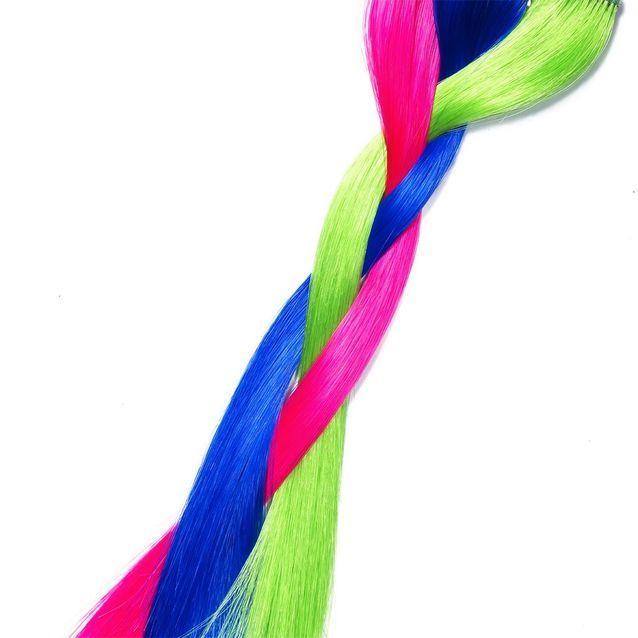 Mèches à clipper, Pretty Flamingo, Electric Lizard et Shocking Blue