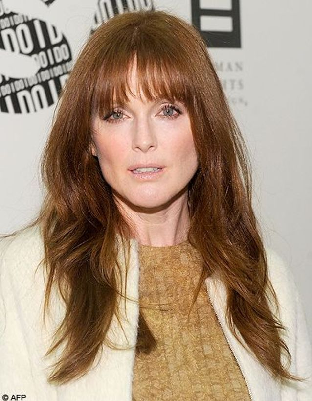 Frange courte de Julianne Moore