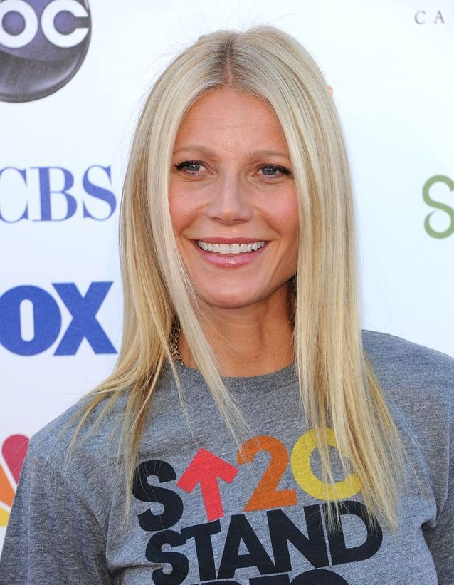 Le blond monochrome de Gwyneth Paltrow