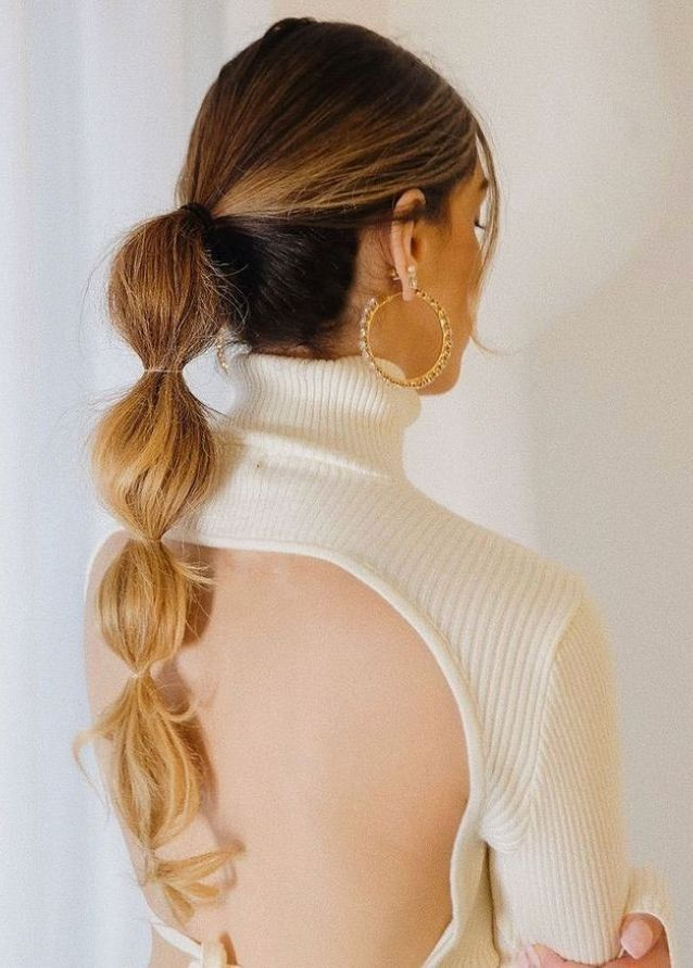 Bubble Braid sur cheveux longs