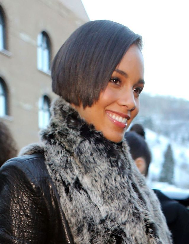 Le carré effilé d'Alicia Keys