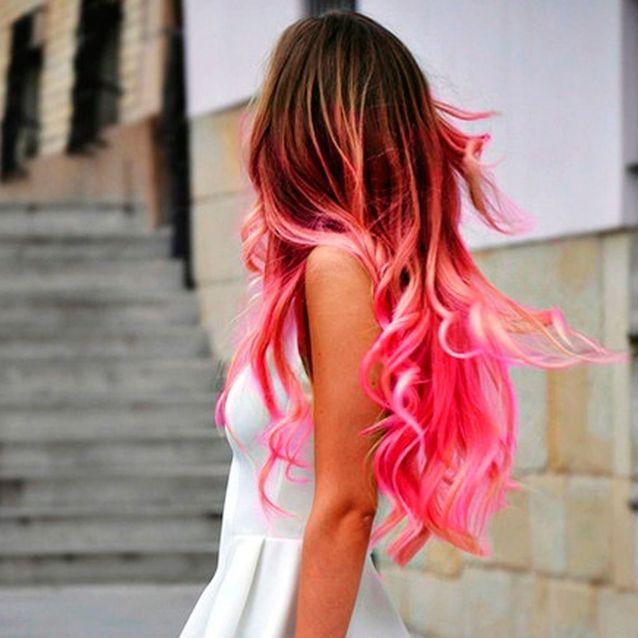 Boucles rose bonbon