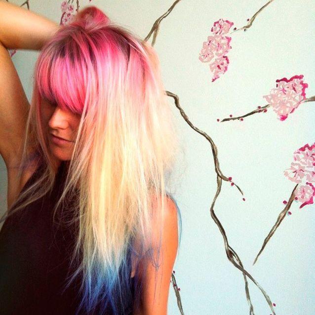 Chevelure tricolore