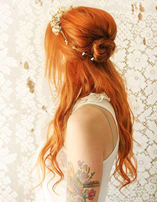 Coiffure mariée semi lâché , Les plus jolies coiffures de