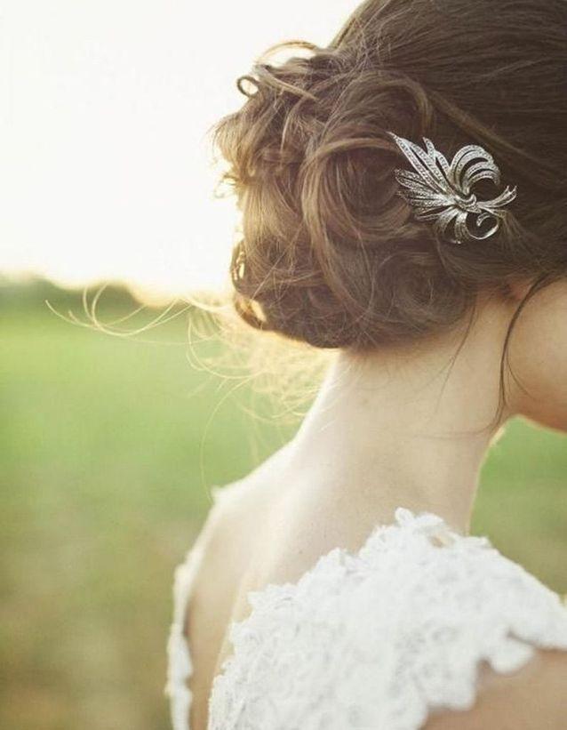 Coiffure mariée simple