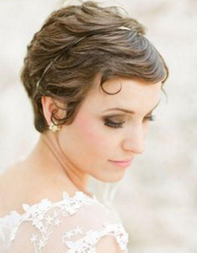 Coiffure mariée sur cheveux courts