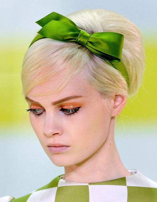 Le headband nœud vert de Louis Vuitton