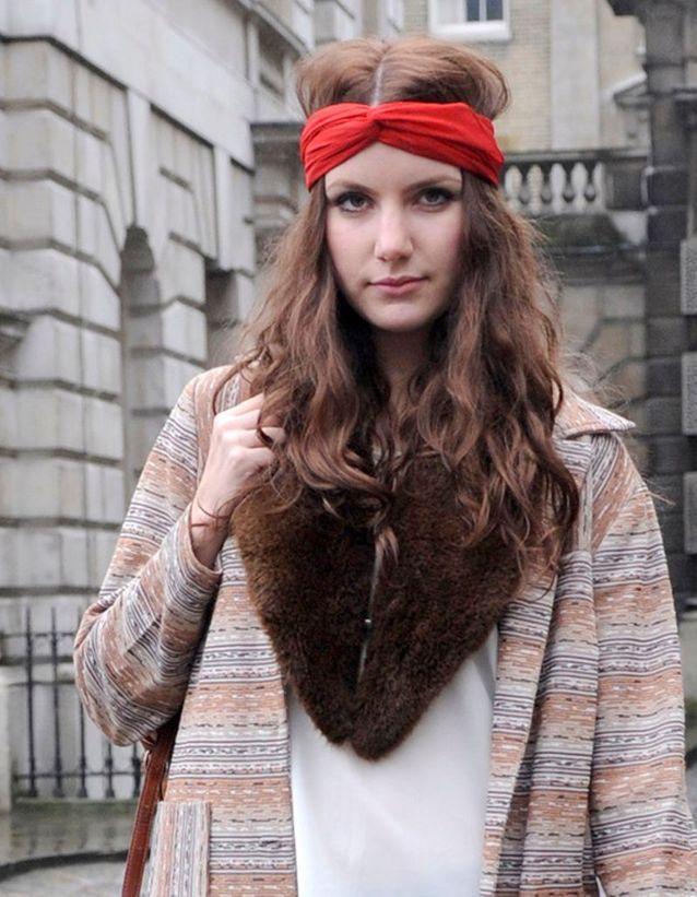 Le foulard version bohème chic